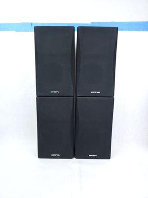 ONKYO (4) Piece Surround Sound Speakers Set SKM-550S L&R SKB 550 Back L & R for Sale in Denver, CO