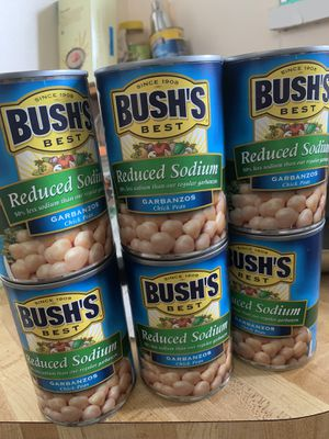 Canned chick peas Bush's best reduced sodium for Sale in Plantation, FL