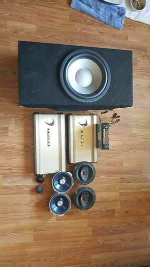 Complete car stereo system I'm willing to part out for Sale in Tacoma, WA