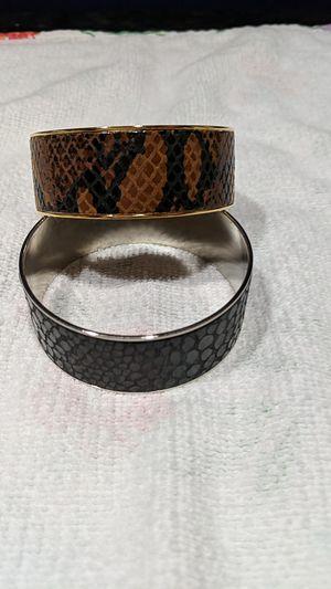 Two snakeskin bangle bracelets for Sale in McKeesport, PA