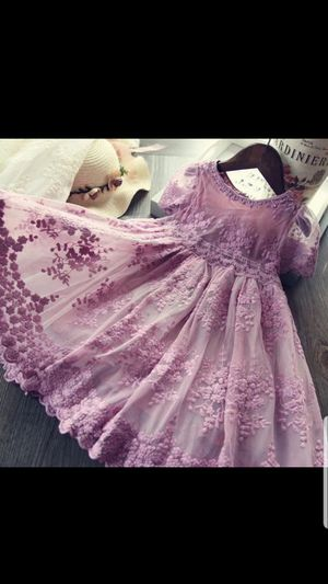 Girl Dress Kids Dresses For Girls Mesh Casual Lace Embroidery Princess Baby Girl Clothes Summer Sleeveless Dress Kids Clothes for Sale in Alafaya, FL