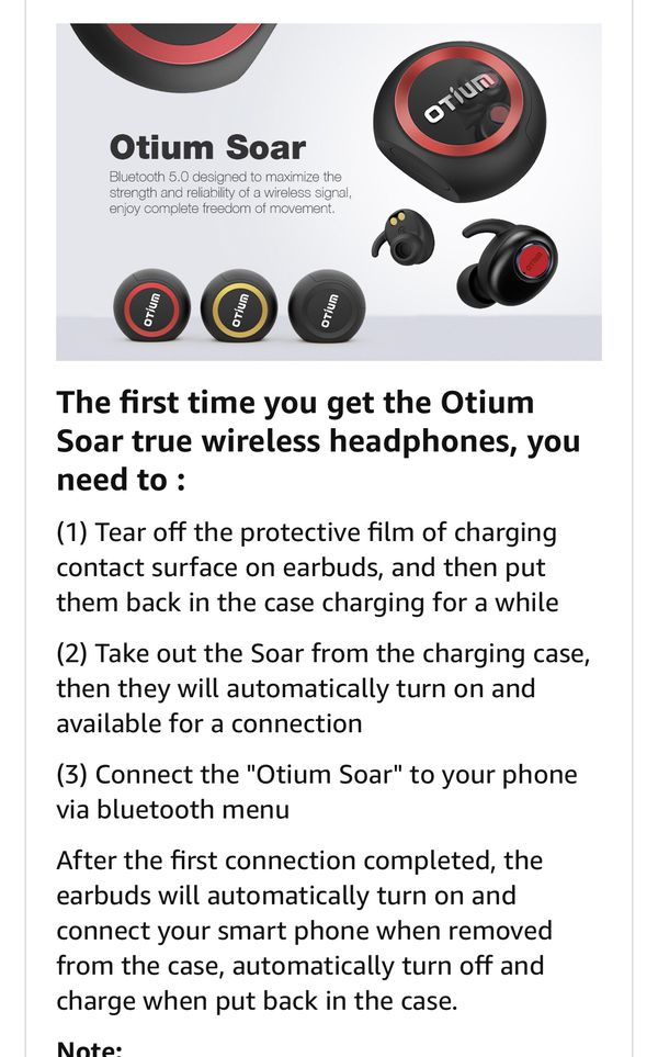 Brand New Wireless Earbuds Otium Soar True Bluetooth Headphones Wireless Earphones Bluetooth 5 0 Auto Pairing Hifi Stereo Sound Sweat Proof Headset W For Sale In Arcadia Ca Offerup
