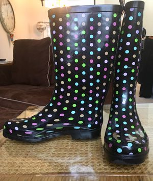 Colorful Polka Dot Rain Boots, Size 9M for Sale in NEW PRT RCHY, FL