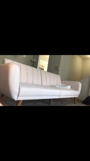 Pink modern sofa (bed sofa) for Sale in Flint, MI