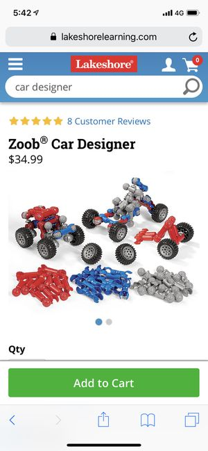 Zoob car designer for Sale in Orland Park, IL