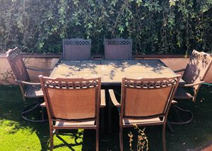 Patio set with 6 chairs for Sale in Seal Beach, CA