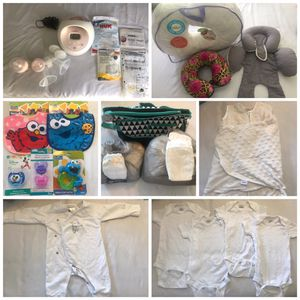 Newborn baby / 0-3 month starter pack all included ! Spectra s2 breast pump , clothes/swaddle , diapers/bag, bibs , pillows for Sale in Orlando, FL