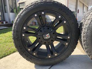 XO Series XD822 Monster II - Satin Black Wheels for Sale in Bellflower, CA