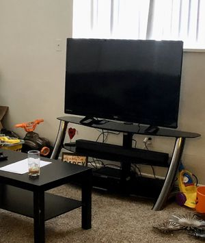 Black Glass Tv Stand for Sale in Colorado Springs, CO