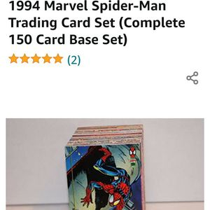 Comic Cards 1994 Marvel Spider Man Complete Set In Mint Condition for Sale in Spring Valley, CA