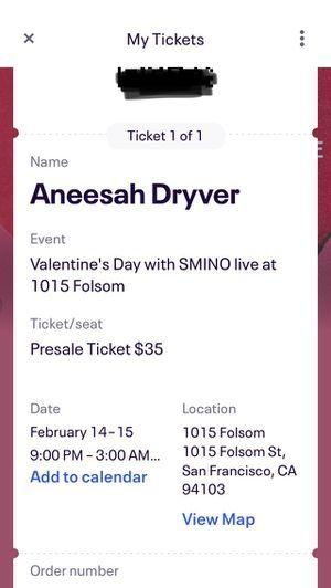 SMINO- Tonight at 1015 Folsom for Sale in Oakland, CA