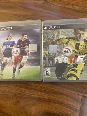PlayStation 3 game fifa 16,17 for Sale in Woodland Park, NJ