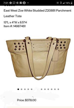 Leather coach purse for Sale in Tacoma, WA