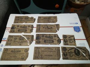 American Civil War Confederate Money Treasury Bonds Paper Money for Sale in San Jacinto, CA