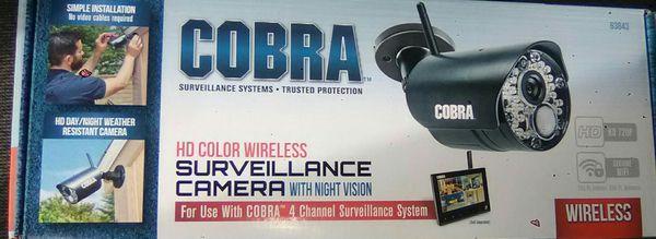 Cobra 4 channel HD Surveillance Camera New Never Used