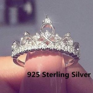 Cz Princess Crown Sterling Silver Ring 925 Stamped for Sale in Arlington, TX