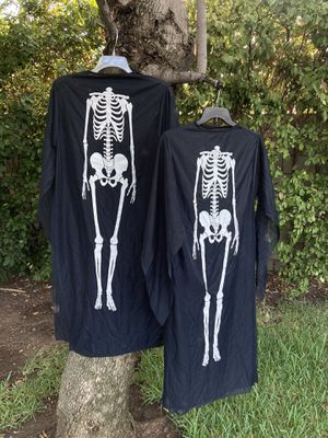 2 Skeleton Dresses, Look 👀 pictures for details, Both for $10.00 for Sale in Glendora, CA