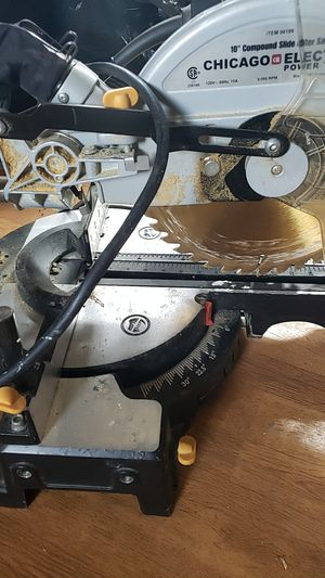 Chicago electric power tools 10inch compound slide miter saw for Sale in Lynn, MA