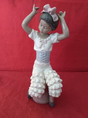 "LLADRO #5160 ""RHUMBA"" BLACK LEGACY DANCING GIRL FINE PORCELAIN FIGURINE 9"" TALL IN ORIG BOX for Sale in Pompano Beach, FL"