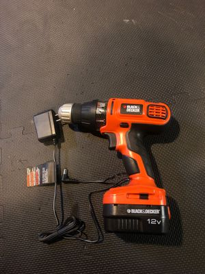 Black and decker drill - charger and battery for Sale in Richland, WA