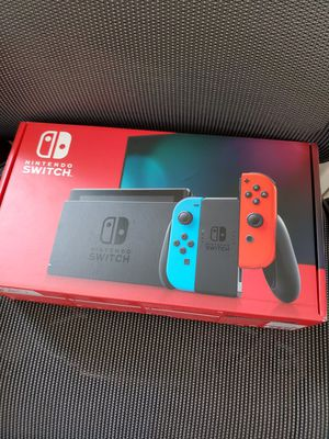 Nintendo Switch with Neon Blue and Neon Red Joy‑Con - HAC-001(-01) for Sale in Los Angeles, CA