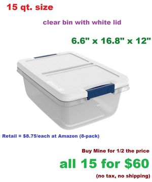 (15) Hefty brand Storage Containers - like new for Sale in Mesa, AZ