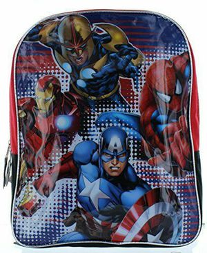 """Marvel Heroes 15"""" Backpack with Spiderman, Ironman, Captain America & Nova for Sale in Roanoke, TX"""