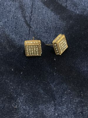 Gold plated diamond Earrings Much better in person for Sale in Alameda, CA