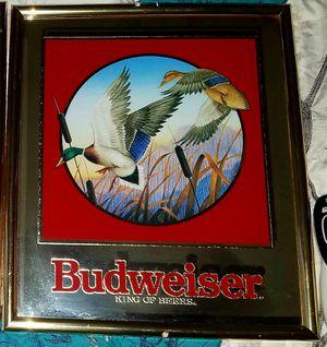 Budweiser mallard bar mirror. for Sale in Wichita, KS
