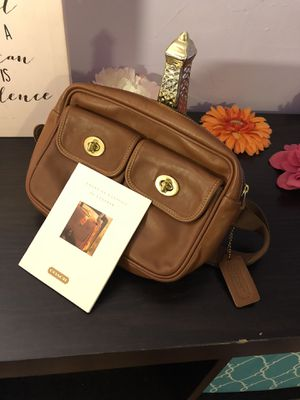 Authentic Leather Handmade Coach Waist-bag for Sale in Gaithersburg, MD