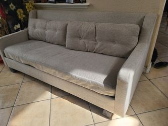 Cute Small Beige Couch 78 L x 23 W x 32 H for Sale in Las Vegas,  NV