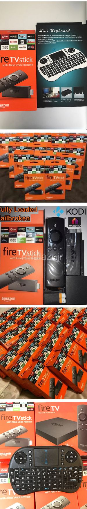 Amazon Fire TV Stick Firestick Unlocked / Jailbroken / Fully Loaded w Live Tv Movies TV Shows Music Radio PPV Events better than Android TV Box for Sale in Las Vegas, NV