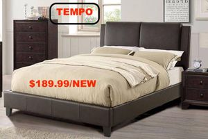 Full Leather Bed Frame, Brown for Sale in Downey, CA