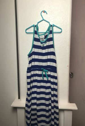 Long blue and white striped dress for Sale in Las Vegas, NV