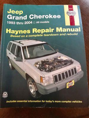 Jeep Grand Cherokee Haynes Repair Manual for Sale in Chesapeake, VA