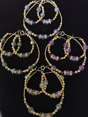 Earrings and bracelet set pic you color for Sale in Middletown, PA