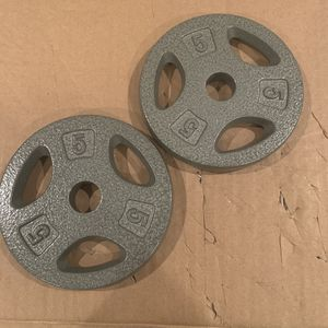 CAP 5lb Weight Plates - Set of 2 (10lb total) for Sale in Newton, MA