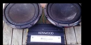 "2 12"" subs and amplifier for Sale in San Jacinto, CA"