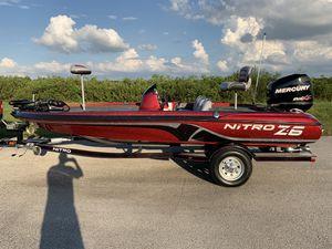 2012 Nitro Z6 Bass Boat Mercury 115 OptiMax ProXS for Sale in Orlando, FL