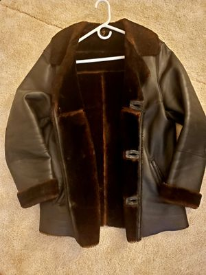 Leather men's coat size M for Sale in Naperville, IL
