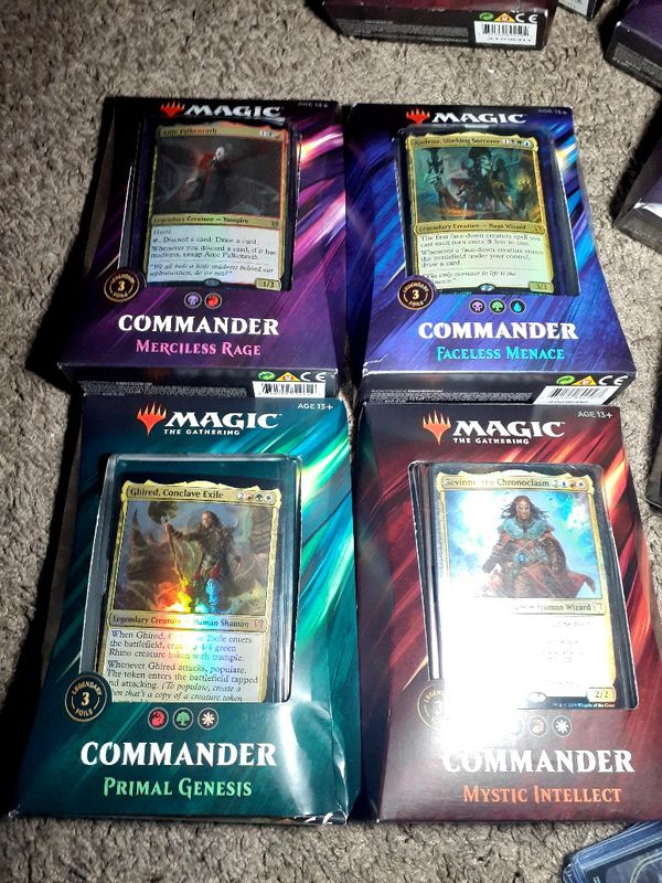 Magic the gathering, 4 commander decks You pick!