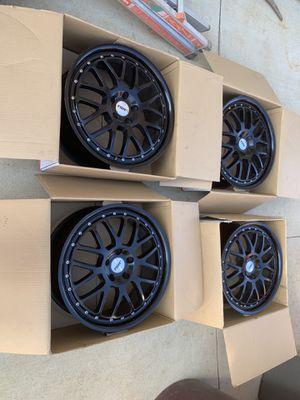 19 inch matte black rims for Sale in Beaumont, CA