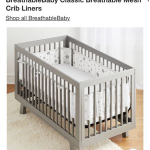 BreathableBaby Classic Breathable Mesh Crib Liners for Sale in Huntington Beach, CA