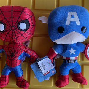 "NWT Marvel Superheroes Spiderman & Captain America Plush 8"" for Sale in Portland, OR"