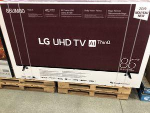 86 INCH LG SMART 4K BRAND NEW HUGE SALE TVS 2019 ! for Sale in Burbank, CA