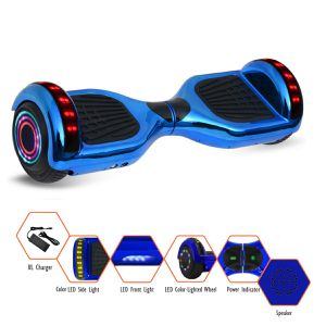 GlareWheel Chrome Hoverboard With Built-In Bluetooth Speaker LED Light Up Wheel for Sale in Murrieta, CA