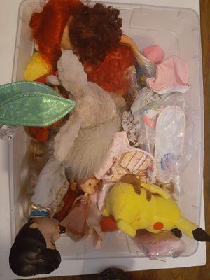 Dolls disney barbie bratz figures girls toy box for Sale in Rancho Cucamonga, CA
