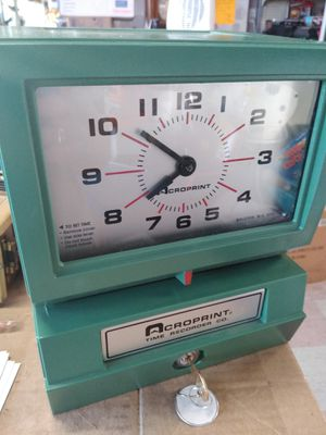 Acroprint time recorder with key for Sale in Philadelphia, PA