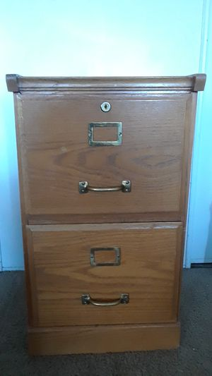 Oak Wood 2 Drawer Filing Cabinet for Sale in Colorado Springs, CO