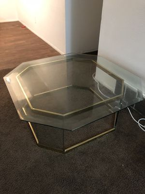 Large glass coffee table for Sale in Salt Lake City, UT
